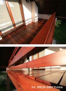 Zabudowa tarasu i balustrada drewniana Katowice