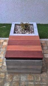 Architektura Ogrodowa - siedzisko z deski Deck-Dry