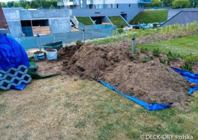 Budowa Tarasu Drewnianego - roboty ziemne Deck-Dry