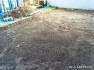 Budowa Tarasu prace przygotowawcze - Deck-Dry