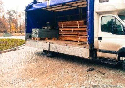 Deski Tarasowe - Transport na plac budowy Deck-Dry
