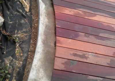 docięcie tarasu z drewna egzotycznego massaranduba