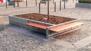 Ławka z deski tarasowej -Deck-Dry Katowice