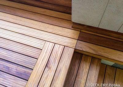 Montaż drewnianych tarasów - detal Deck-Dry
