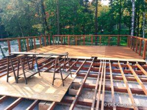 taras widokowy w lesie, wypoczynek na tarasie w parku