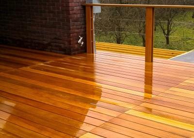 Podłoga z drewna egzotycznego - montaż Deck-Dry Katowice