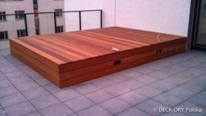 Skrzynia drewniana na dachu - Montaż Deck-Dry