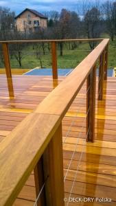 łatwa w montażu balustrada tarasu bez uszkodzenia izolacji tarasu, balkonu