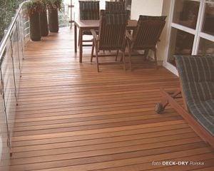 balkon, drewno w syst. DECK-DRY
