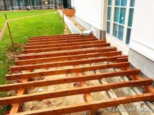 Zabudowy Tarasów - Legary na kontrlegarach - Deck-Dry Warszawa