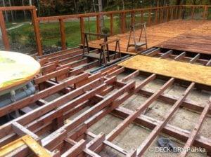 Zabudowy Tarasów montaż na legarach drewnianych Deck-Dry