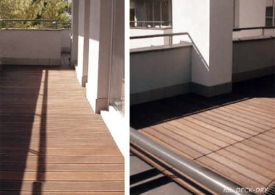 deska tarasowa ryflowana na balkonie