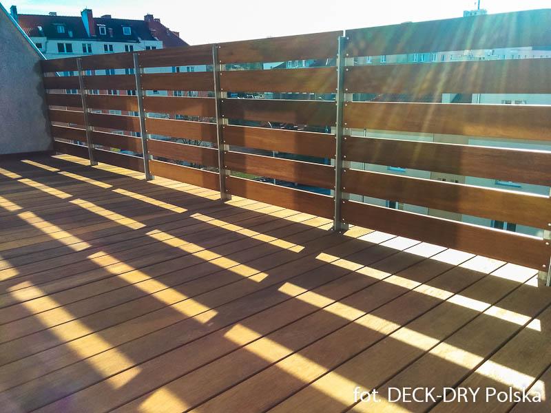 Taras drewniany na balkonie – Montaż trójmiasto