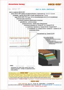 detal dwg projekt tarasu drewnianego