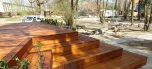 drewniany taras z tatajuby